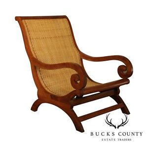 British Colonial Style Anglo Indian Style Plantation Lounge Chair