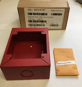Simplex 2975 9178 690 317 Cdt Fire Alarm Pull Station Red Surface Mount Backbox