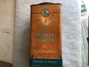 Kidde Dry Chemical Powder Fire Extinguisher Vintage Empty Tin