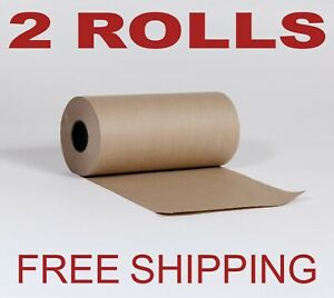 2 Rolls 12 X 1200 Brown Kraft Paper Roll 30lb Shipping Wrapping Packaging