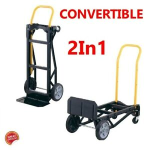 Two Wheel Dolly Moving Appliance Hand Truck Push Cart Best Convertible Furniture