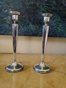 Antique Vintage Art Deco Otto Reichardt Signed Sterling Silver Candlesticks