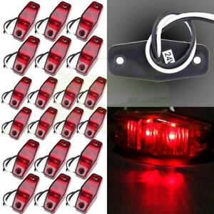 10 Pair Surface Mount Red 2 5 Clearance Light Side Marker For Rv Trailer Lorry