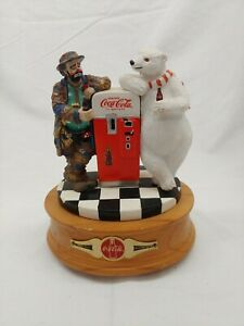 Coca-Cola Musical Figurine Wind Up Emmett Kelly