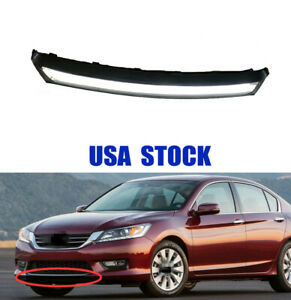 Front Bumper Lower Skirt With Chrome Stripe Trim For Honda Accord 2013 2014 2015