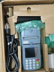 New First Data Fd 400 Point Of Sale Credit Card Machine With Power Cord Paper