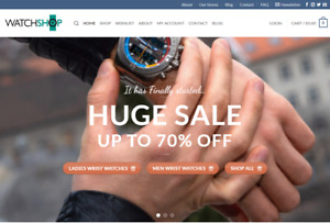 Ready Made Drop Shipping Website Free Hosting Set Up Watch Stores