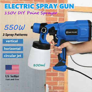 110v Electric Car Paint Spray Gun Fence Brick Walls Industrial Home 3 Patterns