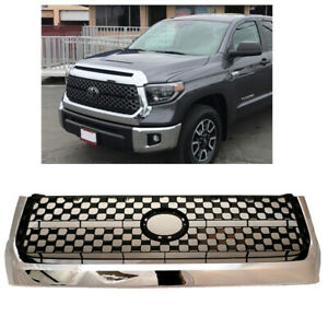 For 2014 2020 Toyota Tundra Front Grille Chrome Bumper Grille Replacement New
