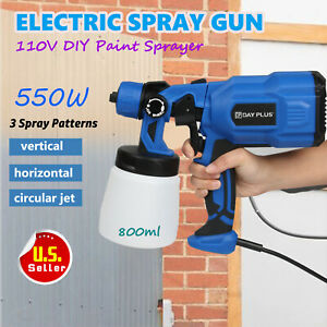 Electric Paint Sprayer Spray Gun System Painting Outdoor Fence Bricks 800ml 550w
