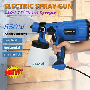 800ml Electric Diy Paint Sprayer Spray Gun Lacquer Fence Garden Wall Auto Cars