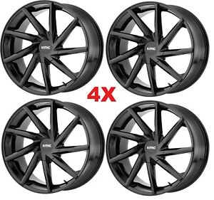 20 Black Wheels Rims Kmc Lexani Giovanna