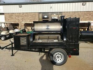 Competition Pitmaster Bbq 60 Smoker Firewood Mobile Catering Business Grill Ribs