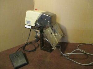 Fc 101 Faber Castell Mounted Electric Saddle Stitcher Stapler W Foot Pedal