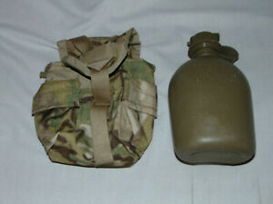 US MILITARY ISSUE 1 QUART CANTEEN WITH ACU COVER EXCELLENT 2 $14.95