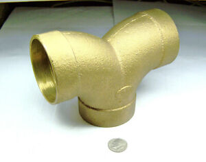 Nibco 837 Nos 2 Bronze Sanitary Dwv Double Elbow Cxcxc Copper Sweat Joint