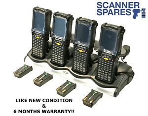 Lot Of 4 Symbol Mc9190 ga0sweya6wr 1d Windows Ce 6 0 Charging Dock Barcode