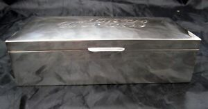 Antique Sterling Silver Cigar Box Humidor C 1935