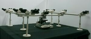 Olympus Microscope Bh2 Multihead Teaching System With 11 Heads And 2x