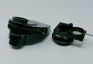 Nikon Microscope Lwd Condenser W Dic Phase Contrast Polarizer For Inverted