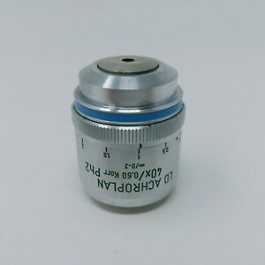 Zeiss Microscope Objective Ld Achroplan 40x 0 60 With Correction Ph2 440865