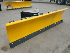 Demo 10 5 Pa Ld Arctic Sectional Snow Plow Power Angle Skid Steer Attachment