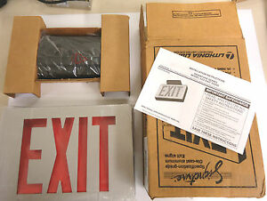 Lithonia Lighting 283059 Die Cast Led Exit Sign Single Stencil Face Red Letters