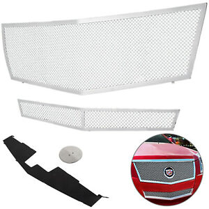 Fits 2008 2013 Cadillac Cts Stainless Steel Mesh Grille Grill Insert Combo