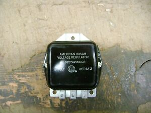 Nos American Bosch Voltage Regulator Gr276 Pos Ground 6 Volt Ford Usa