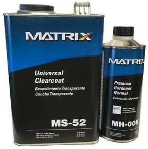 Matrix System Ms 52 Universal Gallon Clear Coat Kit Mh 005 Premium Hardener 1qt