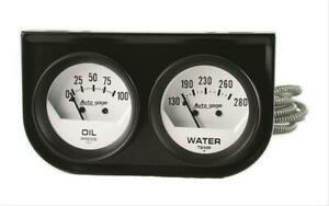 Autometer 2323 Gauge Kit Analog Auto Gage Console 2 1 16 Water Temp Oil Psi Kit