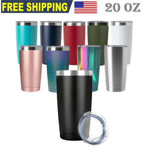 20oz Tumbler Stainless Steel Sip Lid Double Wall Vacuum Insulated Travel Bottle $12.89