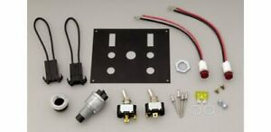 Moroso Switch Panel Aluminum Black 4 In Wide 5 In Tall 3 Toggle Switches Each