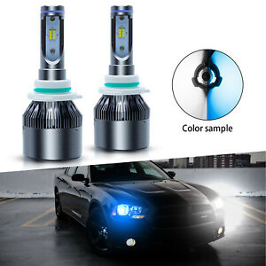 2x Pierce White ice Blue Led Bulbs W fan Low Beam Lamp For Dodge Charger 2008 10