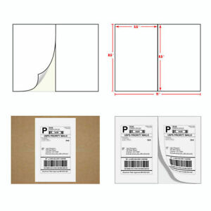 1 2000 Shipping Labels 8 5x5 5 Ebay Paypal Labels Self Adhesive 2 Per Sheet