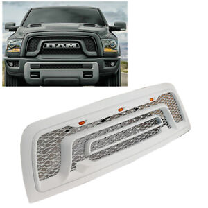 For 10 18 Dodge Ram 2500 3500 Painted White Front Bumper Grille W led Letters