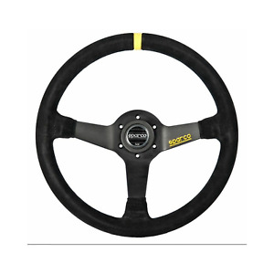 Sparco 345 Competition Black Suede Steering Wheel 350mm 015r345msn