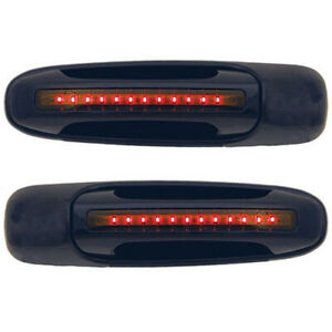 New Rear Red Led Black Door Handle Set For 02 06 Dodge Ram Ch1520109 Smoked