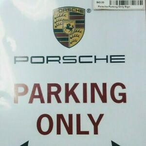 Porsche Parking Signs With Mount Equipment 2 In Package