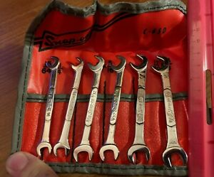 New Snap on Angle Head Open End Ignition Wrench Set 6 Pc Sae 15 64 3 8 Ds806k