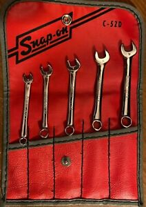 New Vintage Stock Snap on 5 Piece 6 point Midget Mm Combo Wrench Set 5 9mm Oxim7