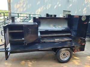 Pro Pitmaster Bbq Smoker 36 Grill Trailer Firebox And Ribbox Business Food Truck