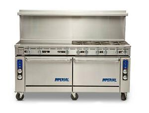 Imperial Range 72 6 Burner Range With Dual Convection Ovens 36 Griddle