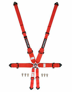 Conquer Sfi 16 1 fia Rated 6 Point Racing Safety Harness Cam Lock Seat Belt
