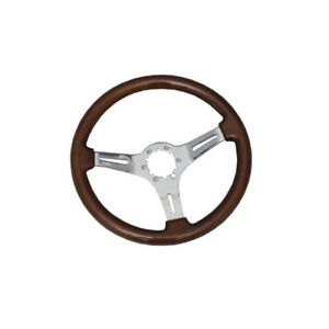 1967 1982 Corvette Steering Wheel Mahogany With Chrome Plated Aluminum Spokes
