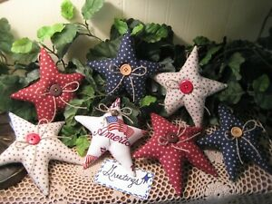 7 Patriotic Country Decor Stars Bowl Fillers Wreath Making America