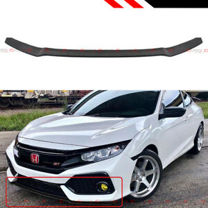 For 17 21 Civic Hatchback Fk Si Hfp Style Gloss Black Front Bumper Lip Spoiler