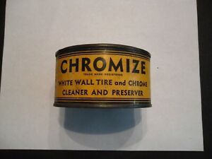 Vintage Pierpont Products Chromize White Wall Tire And Chrome Cleaner