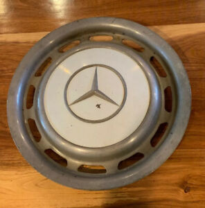 Vintage 15 Mercedes Benz Hubcap Wheel Cover White Silver