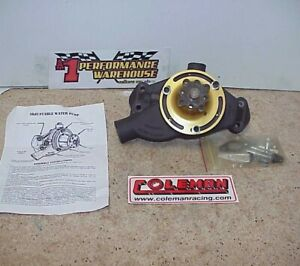 New Coleman Aluminum Adjustable Short Style Water Pump For Sb Chevy 12190 Ee J6